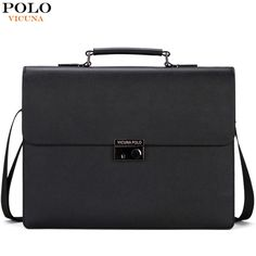 VICUNA POLO New Arrival 2017 Business Mens Briefcase Unique Anti-theft Lock Male Laptop Bag bolsa masculina Brand Man Handbags