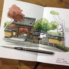 """194 Likes, 2 Comments - A Travel Diary (@_atraveldiary_) on Instagram: """"Japan - @yandi_p - Tag #atraveldiary and indicate the country where you created your drawing.…"""""""