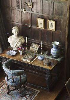 A corner of the Great Parlour at Wightwick Manor, Wolverhampton.