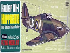 The Guillows 1/32 Hawker Hurricane is a balsa wood aircraft model kit from the range manufactured by Guillow.  During the famous Battle of Britain, more than three-fifths of the R.A.F. Fighter Command's squadrons used Hawker Hurricanes. This immortal partner of the Supermarine Spitfire destroyed the German bombers while the Spitfires engaged the Messerschmitt BF-109's. The Hurricane was the first combat aircraft capable of exceeding 300 M.P.H.