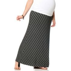 Oh Baby by Motherhood Secret Fit Belly Striped Maxi Skirt - Maternity
