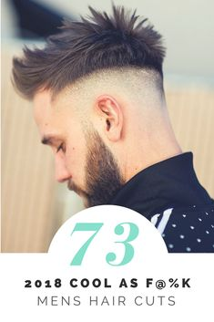 Top 100 Awesome Mens Haircuts 2018 Created By the Worlds Best Barbers Check out our gallery For more Mens Hairstyles . Mens Hairstyles 2018, Popular Mens Hairstyles, Cool Hairstyles For Men, Undercut Hairstyles, Cool Haircuts, Haircuts For Men, Medium Hair Styles, Short Hair Styles, Mens Hair Colour