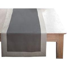 Vis vis maillons bak lite 50x150 100 coton chemins de - Chemin de table gris ...