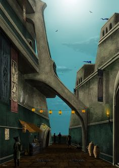 Vivec · Foreign Quarter by romandubina