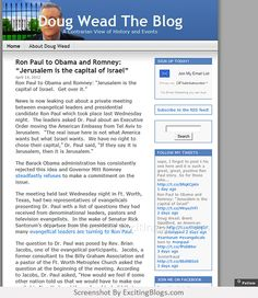 Doug Wead The Blog - Click to visit site:  http://1.33x.us/HXctrW
