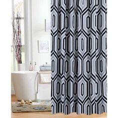 Mainstays Hexagon Geo Shower Curtain