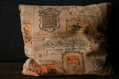 Accent Pillow  Bark cloth Catalog Page Advertising 1960s Vintage From Nowvintage on Etsy. $16.00, via Etsy.
