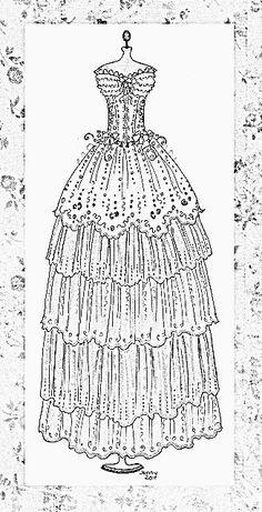 Fancy Dress Embroidery Or SVG Pattern