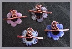 Solid copper enamelled clasp  x 1   choice of colour by abyjem, £6.00