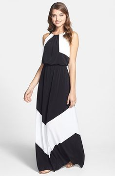 Vince Camuto Colorblock Stretch Jersey Maxi Dress available at #Nordstrom