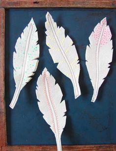 Felt feathers