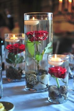 Love the water flower candles