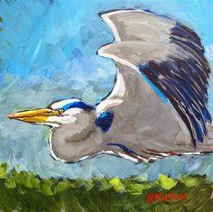 """""""A Blue Heron Flies By""""  Rick Nilson"""