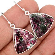 Eudialyte 925 Sterling Silver Earrings Jewelry EDLE54 - JJDesignerJewelry