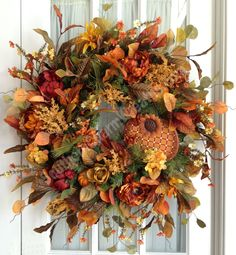 Another gorgeous wreath handmade by www.southerncharmwreaths.com