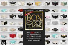 Box Packaging MockUp Creator 1 by INCDesign on @creativemarket