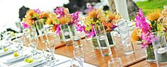 Dazzling wedding designs for site decor Beach Wedding Tables, Hawaii Wedding, Destination Wedding, Hawaiian Wedding Flowers, Floral Wedding, Beach Table Decorations, Tropical Centerpieces, Maui Weddings, White Orchids
