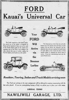 Nawiliwili Ford Car 2 | Ford -- Kauai's Universal Car. Nawil… | Flickr