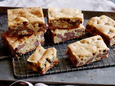 Chocolate Chunk Blondies : Blondies are great for those who prefer vanilla to chocolate, but the semisweet chocolate chunks are a welcome addition to these chewy, buttery bars. Chopped walnuts add just enough nutty flavor and texture to round out the cookies.