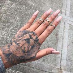 Lion Hand Tattoo Design - Tattoo Shortlist