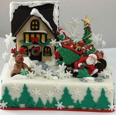 Santa cake by viorica's cakes