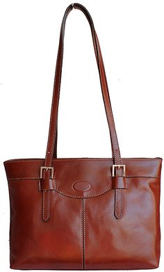 Classic Italian Brown Leather Shoulder Bag - £64.99