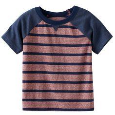 Baby Boy Jumping Beans® Striped Raglan Tee, Red