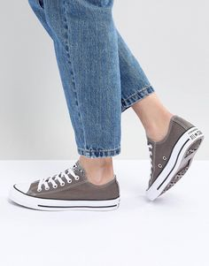 Browse online for the newest Converse Chuck Taylor All Star low sneakers in gray styles. Shop easier with ASOS' multiple payments and return options (Ts&Cs apply). Chuck Taylors, Chuck Taylor Shoes, Converse Chuck Taylor All Star, Womens Training Shoes, White Converse, Converse Shoes, Plimsolls, Grey Sneakers, Clearance Shoes