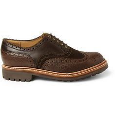 Grenson Stanley Leather and Suede Wingtip Brogues | MR PORTER