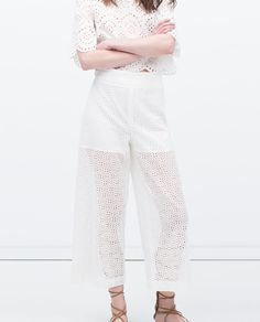 Image 2 of CUT-OUT WIDE CULOTTES from Zara