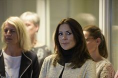 Crown Princess Mary of Denmark accompanied by representatives from the Mary Fonden opened Råd til Livet (Advice for Life) at Mødrehjælpen on May 12, 2015 in Aalborg, Denmark.