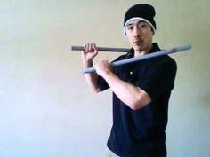 double stick various techniques martial arts self defense - YouTube