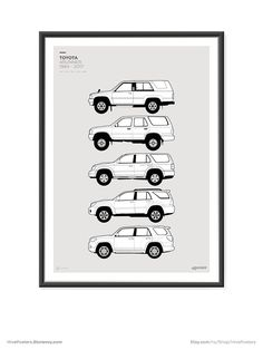Toyota 4Runner Generations Poster