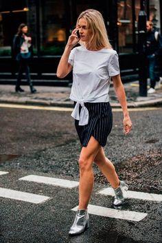 10 looks para arrasar usando shorts branco neste verão