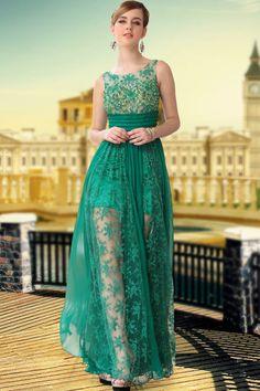 Fresh A-Line Floor-Length Bateau Prom/Evening Dress Picture Color Dresses- ericdress.com 8884258