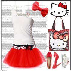 Hello Kitty Costume, for Tessa