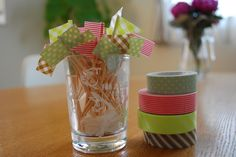 WASHI tape flag picks : good for cup cakes and BENTO !