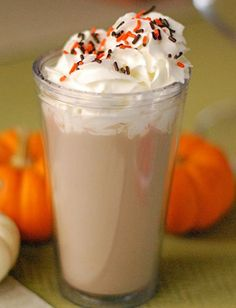 spiced pumpkin hot chocolate.