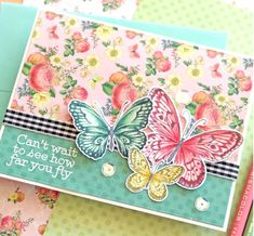 Butterfly Cards Handmade, Butterfly Kit, Butterfly Artwork, Butterfly Mobile, Cute Birthday Cards, Homemade Birthday Cards, Bday Cards, Get Well Cards, Simon Says Stamp