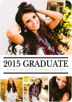 Show off all aspects of your grad's personality with this letterpress graduation announcement.