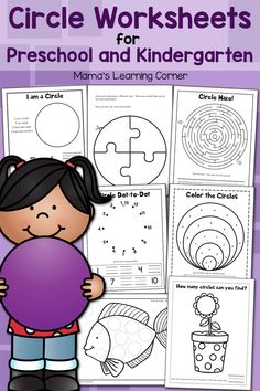 Download a 10-page set of circle worksheets for your preschooler or kindergartner! Maze, color by code, cut and paste, puzzle, and more!