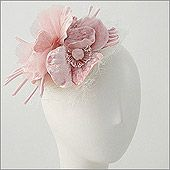 • Velvet Flowers Fascinator  • Design by Ophelie  • Fabric: Rayon, Silk  • Colors: Ivory, Pink, Black, Grey  • Size: Fits Most, Elastic Strap  • Hand Made in Canada