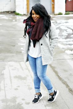 Forever 21 jacket, H&M shirt and jeans / Primark scarf / Nike shoes     Happy New Year! I hope you all had a great NYE ...