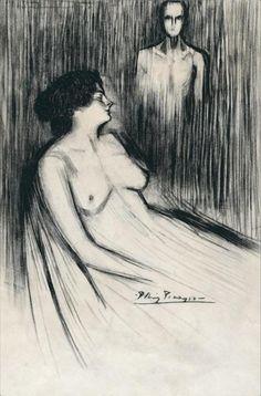 Pablo Picasso (1881 - 1973) El Clam De Les Verges 1900 (48 by 31 cm)
