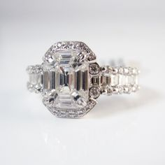 Let this diamond engagement ring sparkle right into her heart!
