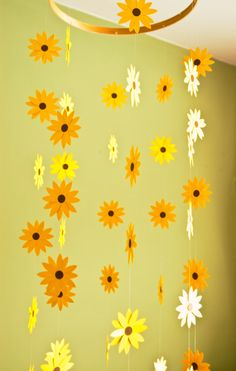 Nursery Decor Sunflower Mobile Paper Mobile for by emaliasfancy