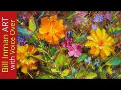 How to Paint Flowers - Daisies & Marigolds - Fast Motion w Voice Over Instruction - YouTube