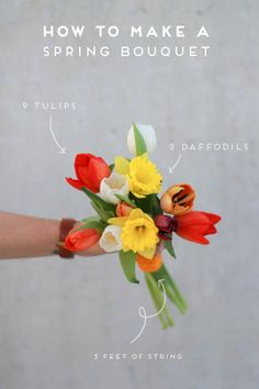 How to make a #spring #bouquet the easy way via Paper & Stitch