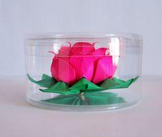 lotus  origami lotus  paper flower  paper lotus  by ARTENJOYMENT