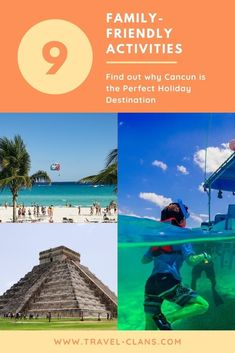 Cancun isn't just for college students or couple getaways. It's also the perfect family holiday destination. Here are 9 amazing things to do in Cancun. Family Holiday Destinations, Family Vacation Destinations, Holiday Travel, Dubai Dolphinarium, Winter Sun Holidays, Pictures Of Beautiful Places, Packing List For Travel, Mexico Travel, Cancun